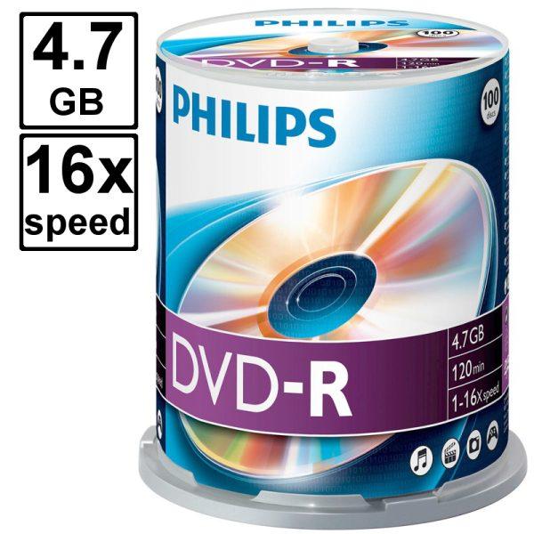 Philips 100 stuks dvd schijven kopen